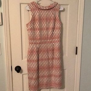 Boden Pink and White Cross Dress